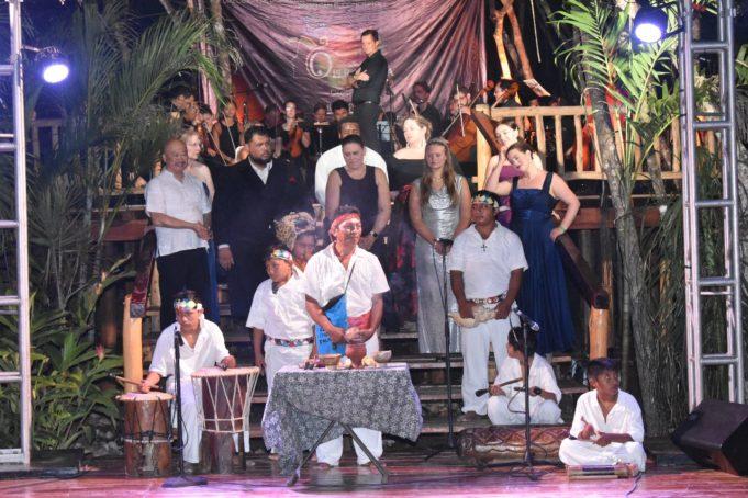Exitosa y mágica velada de la Opera Maya en Tulum