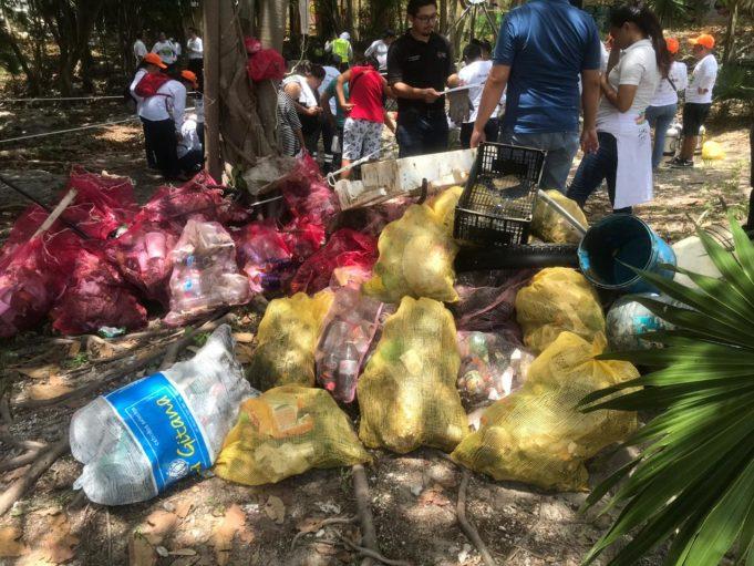 Rescatan cenote de la Supermanzana 100 y exhortan a vecinos a cuidarlo